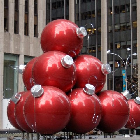 Christmas decoration on 6th Ave, New York